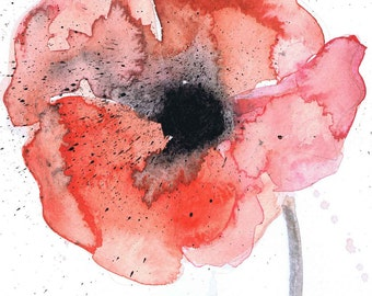 Red Poppy print