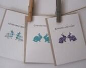 Congratulations Mini Card set of 3