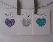 Thank You Mini Card set of 3