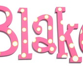 Custom Hand Painted Solid KiDs Wooden Nursery Letters - 10 inches