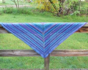 Lace Knit Triangle Shawl