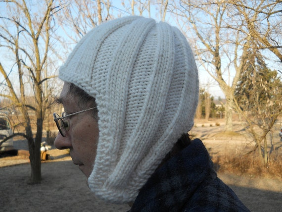 Knitted Wide Ribbed Earflap Hat Adult