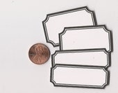 licorice scallop mix - adhesive labels stickers