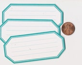 sea glass hexagons - adhesive labels stickers