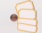 tangerine scallop mix - adhesive labels stickers