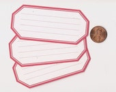 candy apple hexagons - adhesive labels stickers