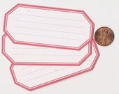 strawberry hexagons - adhesive labels stickers