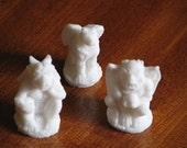 Set of six Gothic Gargoyle soaps - lavender and orange