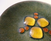 Reserved for Pjs51- Mid Century Copper Enamel Plate by Annemarie Davidson