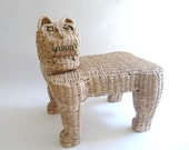 1970s Modernist Mexican Cat Footstool