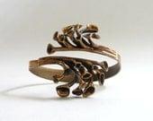 Modernist Bronze Reindeer Moss Bracelet by Hannu Ikonen