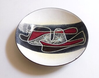 1950s Ellamarie and Jackson Woolley Enamel Bowl