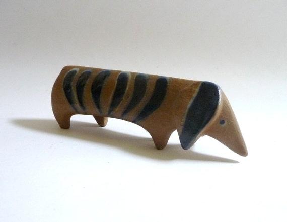 Swedish Modern Ceramic Dachsund by Lisa Larson
