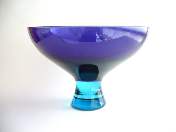 SUMMER SALE Modernist Murano Glass Compote