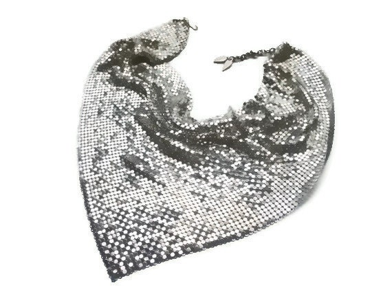 1970s Whiting and Davis Silver Metal Mesh Necklace