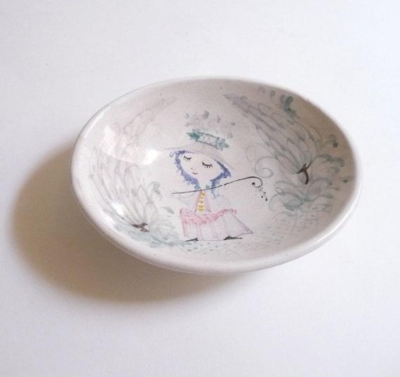 Bjorn Wiinblad Danish Modern Handmade Ceramic Bowl