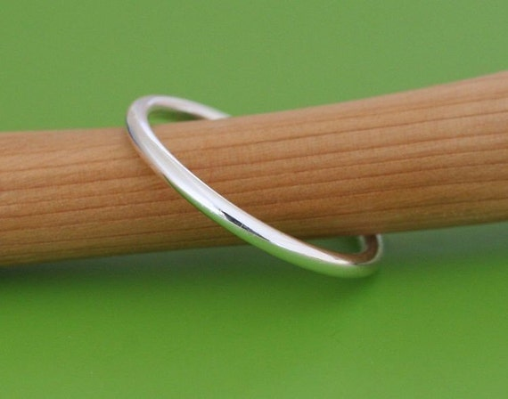 Stacking Ring • Sterling Silver • Size 2 to 15 • Polished, Oxidized, or Brushed Finish