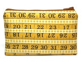 Measuring Tape Zipper Pouch