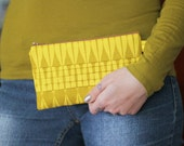SALE // Gold Ruffle Clutch