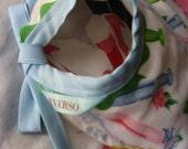 SALE Reversible Baby Bib Vintage and Retro Print