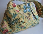 Pleated Birds and Bees Purse