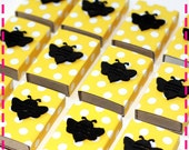 Bumblebee Matchbox Goodies - Party Pack of Twenty (20) - Eco Friendly in Yellow and White Polka Dots, Each with a Cute Black Bee