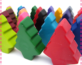Kids' STANDING TREE CRAYONS Recycled Upcycled, Party Pack of (10) Favors, Eco Friendly Toys, Asst. Colors Stocking Stuffers Kids Table