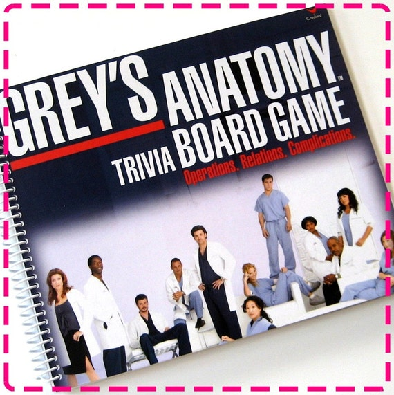 GREY'S ANATOMY TRIVIA BOARD GAME Spiral Bound Recycled