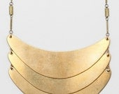 Fragmented Necklace In Vintage Brass Chain