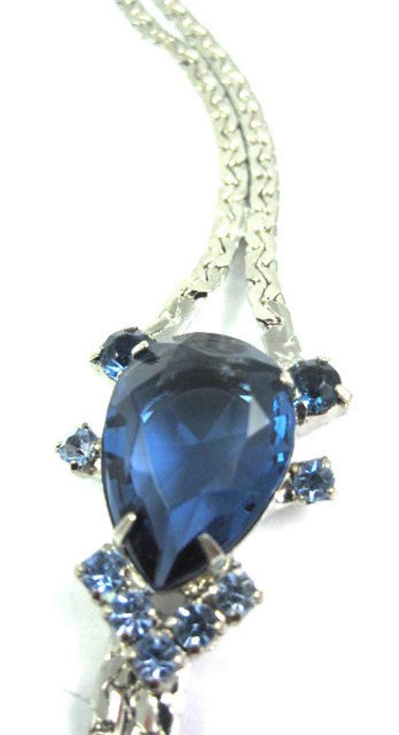SALE Vintage 60s Blue Rhinestoned Bracelet MINT