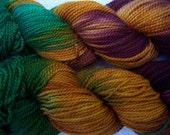 Survivor - hand painted merino wool fingering yarn superwash stitch marker