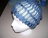Funky Knit Hat - Great Blue - Vegan
