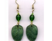 Leafy Green Polymer Clay Earrings