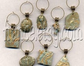 Wine Glass Charms - Egypt Extravangaza