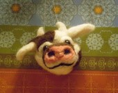 Gloria the Holstein Cow - Needlefelted ornament
