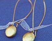 RESERVED FOR ELAINE  -  Long and Lovely Locket Earrings
