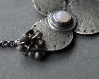 bloom petite necklace in opal