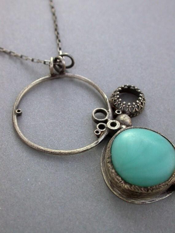 peacock single pendant necklace