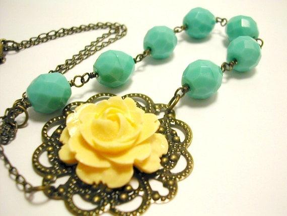 Clarissa Ivory Rose Necklace