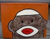 Meet Rosemary the Sock Monkey Original Painting