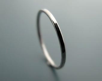 Palladium ring - hammered stacking skinny ring (sizes 1-6.75)