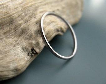 Palladium ring - hammered stacking skinny ring (sizes 7-9.75)