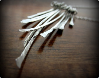 Grass - sterling silver necklace