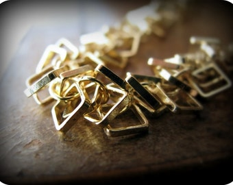 Square links - necklace (gold)