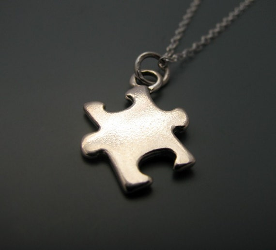 READY TO SHIP - Puzzle - sterling silver necklace