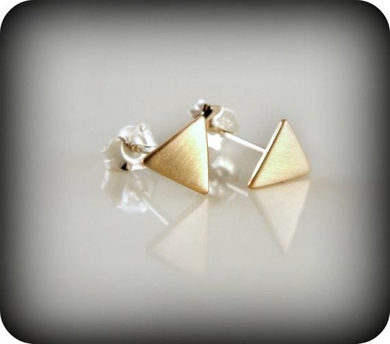 Petits triangles - boucles d'oreilles cubicule