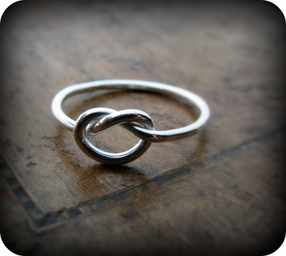 Knot ring - 16 gauge recycled sterling silver ring