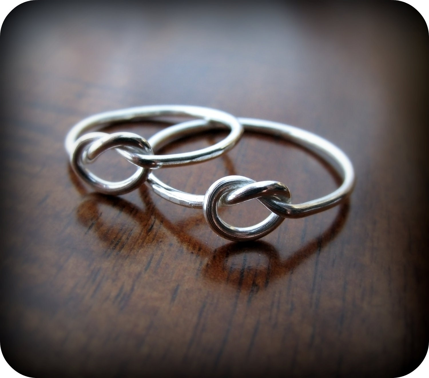 friendship knot rings best friends sterling silver by