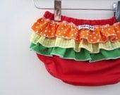 chidrens clothing - Skittles  -  ruffle bloomers - baby - toddler - girl - rae gun -
