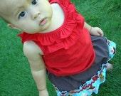 Cake Shop Skirt - Turquoise Cupcakes - Girl - Baby - Toddler